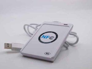 RFID  Keyboard emulierender Tischleser für HF Transponder nach ISO-14443 (Mifare)